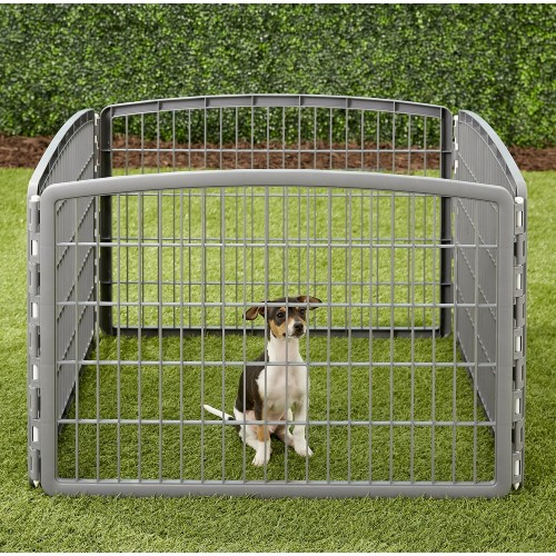 IRIS 4-Panel Plastic Exercise Dog Playpen